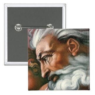 Dios de Miguel Ángel en la creación de Adán Pins
