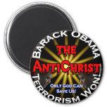 Dios de Obama del AntiChrist Imán De Nevera