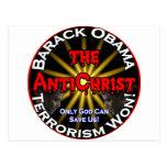 Dios de Obama del AntiChrist Postales