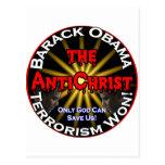 Dios de Obama del AntiChrist Tarjeta Postal