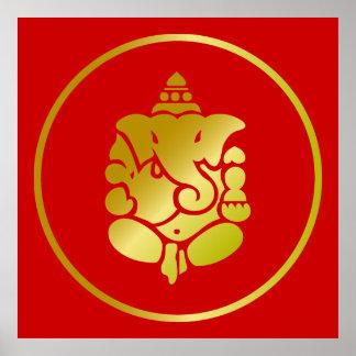 Dios de oro Ganesha Posters
