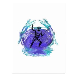 Dios de Poseidon del mar 1 Tarjetas Postales