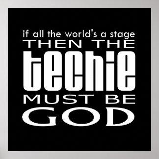 Dios de Techie Póster