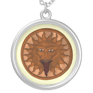 Dios de The Sun (Ra) (bronce) Colgante Redondo