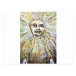Dios de The Sun (retrato de dios del Postal