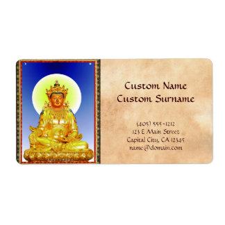 Dios de tierra tibetano oriental fresco de etiqueta de envío