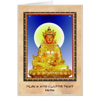 Dios de tierra tibetano oriental fresco de tarjeta pequeña