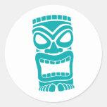 Dios de Tiki Pegatinas Redondas