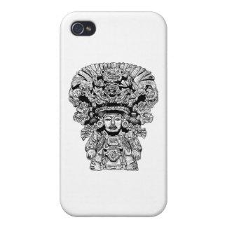 Dios de Zapotec del maíz iPhone 4 Fundas