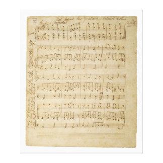 Dios defiende el manuscrito original 1876 de Nueva Impresión En Lienzo Estirada