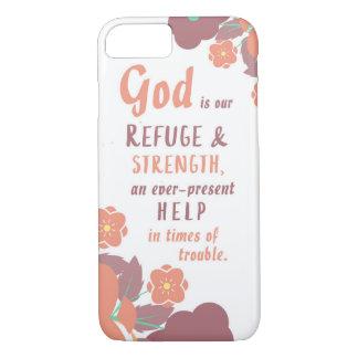 Dios del 46:1 del salmo es nuestro refugio y funda iPhone 7