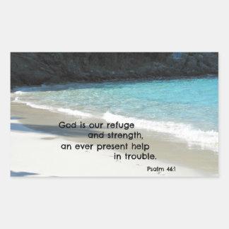 Dios del 46:1 del salmo es nuestro refugio y rectangular altavoces