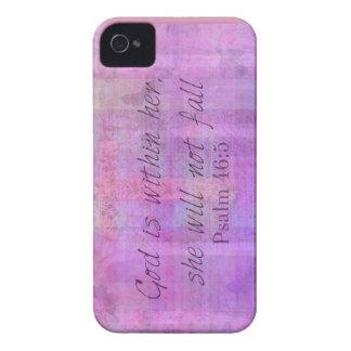 Dios del 46:5 del salmo está dentro de ella, ella funda para iPhone 4 de Case-Mate