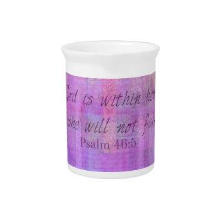Dios del 46:5 del salmo está dentro de ella, ella jarra