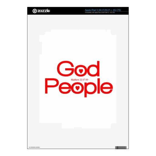 Dios del amor, gente del amor iPad 3 pegatinas skins