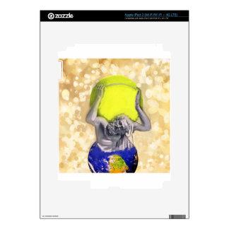 Dios del atlas y pelota de tenis pegatinas skins para iPad 3