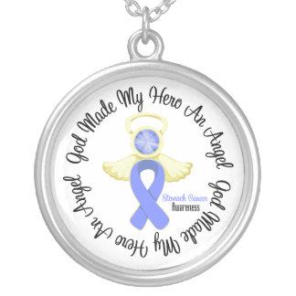 Dios del cáncer de estómago hizo mi héroe un ángel colgantes personalizados