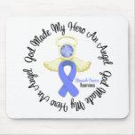 Dios del cáncer de estómago hizo mi héroe un ángel tapetes de ratones