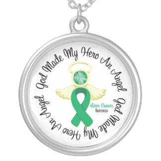 Dios del cáncer de hígado hizo mi héroe un ángel colgante redondo