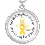 Dios del cáncer de la niñez hizo mi héroe un ángel joyeria personalizada
