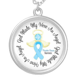Dios del cáncer de próstata hizo mi héroe un ángel joyeria personalizada