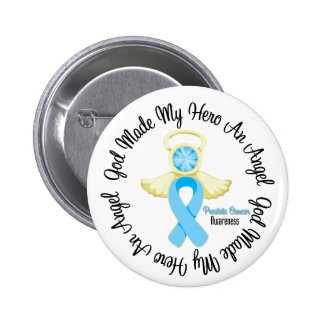 Dios del cáncer de próstata hizo mi héroe un ángel pin