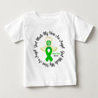 Dios del cáncer del riñón hizo mi héroe un ángel playera de bebé