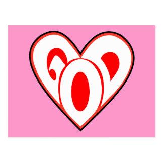 Dios del corazón tarjeta postal