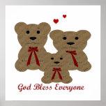 Dios del ~ de las bendiciones del oso de peluche b impresiones