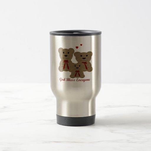 Dios del ~ de las bendiciones del oso de peluche b tazas de café
