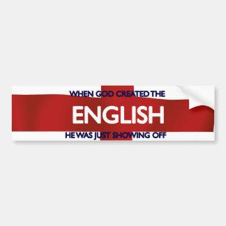 Dios del día de San Jorge del inglés creado Pegatina Para Auto