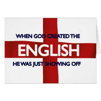 Dios del día de San Jorge del inglés creado Tarjetas