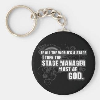 Dios del director de escena del Grunge Llaveros Personalizados