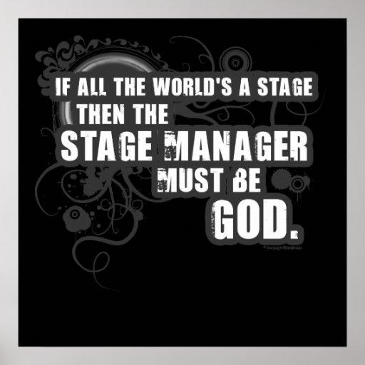 Dios del director de escena del Grunge Impresiones