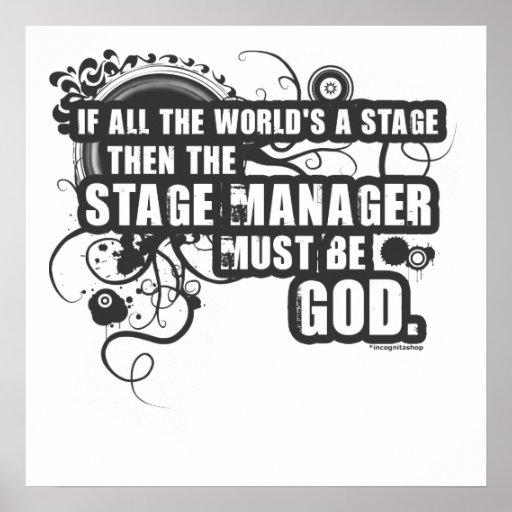 Dios del director de escena del Grunge Poster