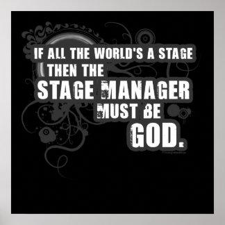 Dios del director de escena del Grunge Póster
