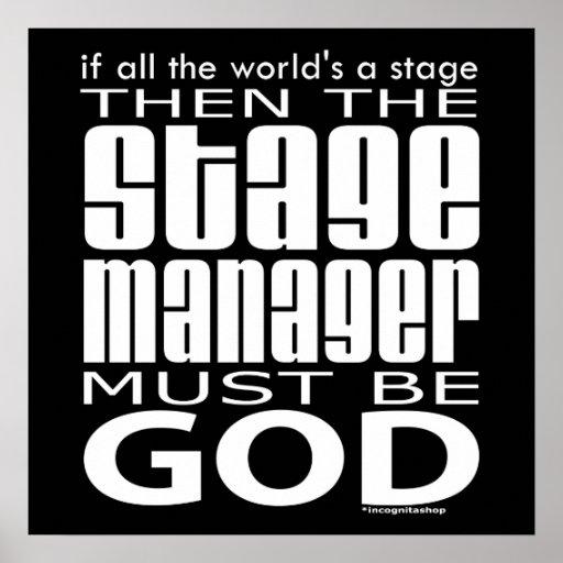 Dios del director de escena posters