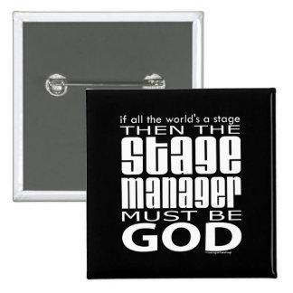 Dios del director de escena pin cuadrado