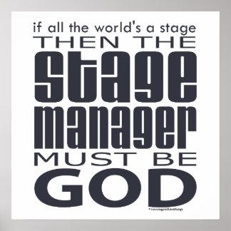 Dios del director de escena póster