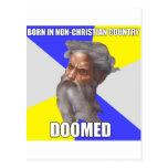 Dios del duende condenado postal