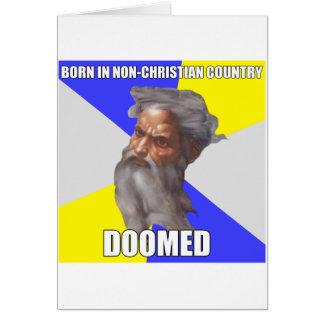 Dios del duende condenado tarjeta de felicitación