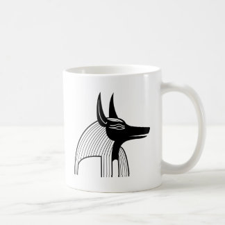 Dios del egipcio de Anubis Tazas De Café