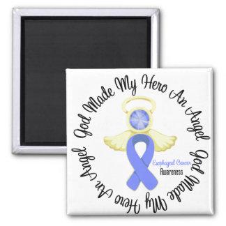 Dios del esófago del cáncer hizo mi héroe un ángel imanes para frigoríficos