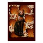 Dios del gato del ~ de BASTET de la religión egipc Felicitaciones