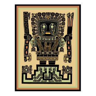 Dios del guerrero del inca tarjetas postales