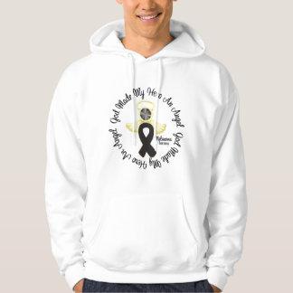 Dios del melanoma hizo mi héroe un ángel jersey encapuchado