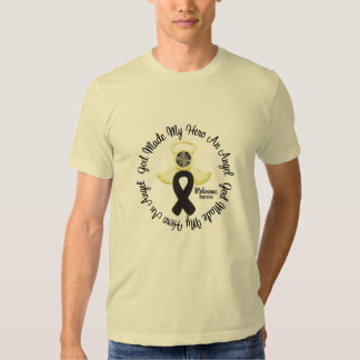 Dios del melanoma hizo mi héroe un ángel remeras