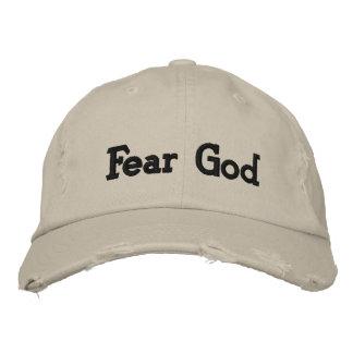 Dios del miedo gorras de béisbol bordadas