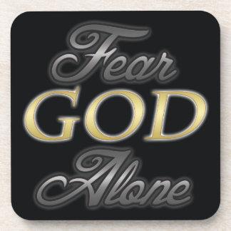 Dios del miedo solo posavasos de bebida