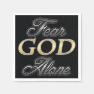 Dios del miedo solo servilleta de papel